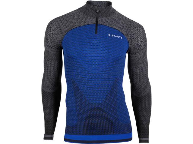 UYN Running Alpha OW LS Zip-Up Shirt Men, persian blue/charcoal